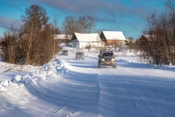 Winter self-driving trip in Russia