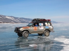 Winter drive to Baikal